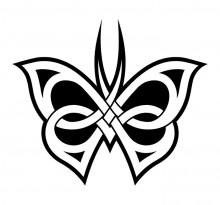 Эскиз татуировки бабочки (87)