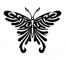 Эскиз татуировки бабочки (90)