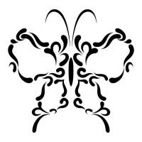 Эскиз татуировки бабочки (93)