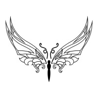 Эскиз татуировки бабочки (96)