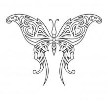 Эскиз татуировки бабочки (98)
