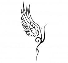 Изящный эскиз татуировки крыльев