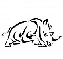 Носорог в трайбл стиле