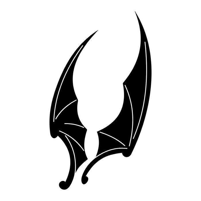 Два черных крыла (эскиз)