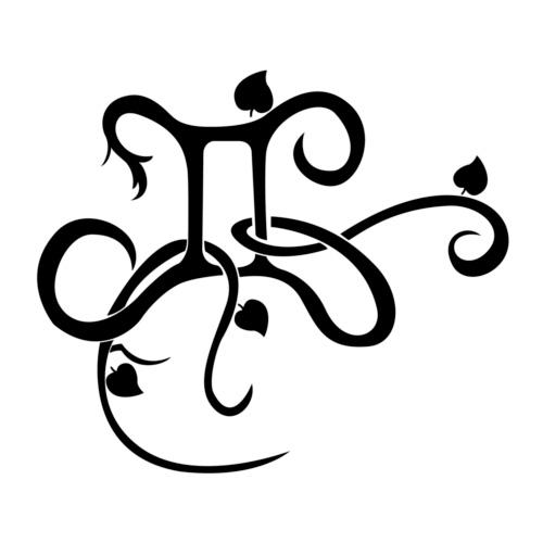 Эскиз тату символа Близнецов