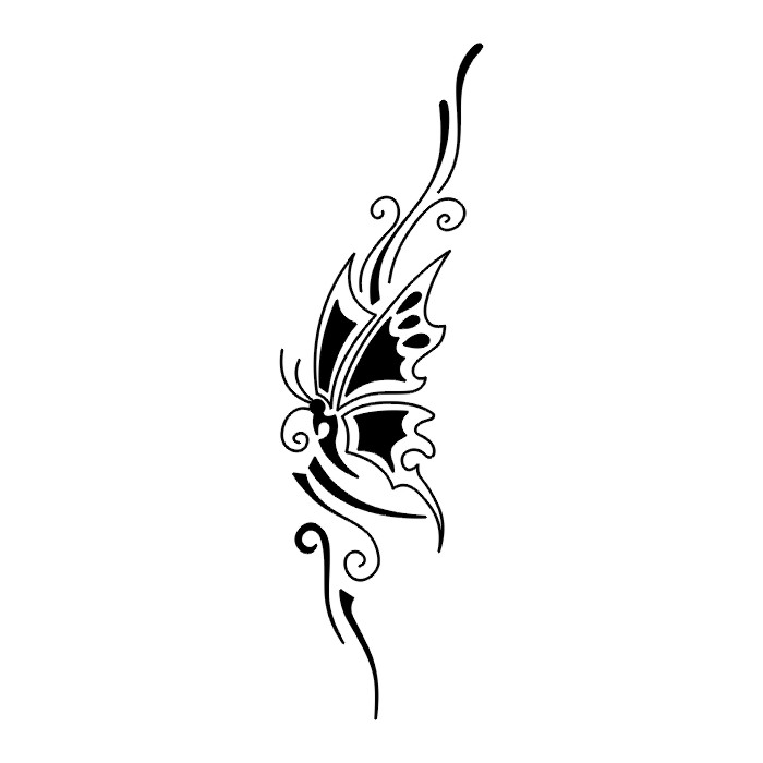 Эскиз татуировки бабочки (55)
