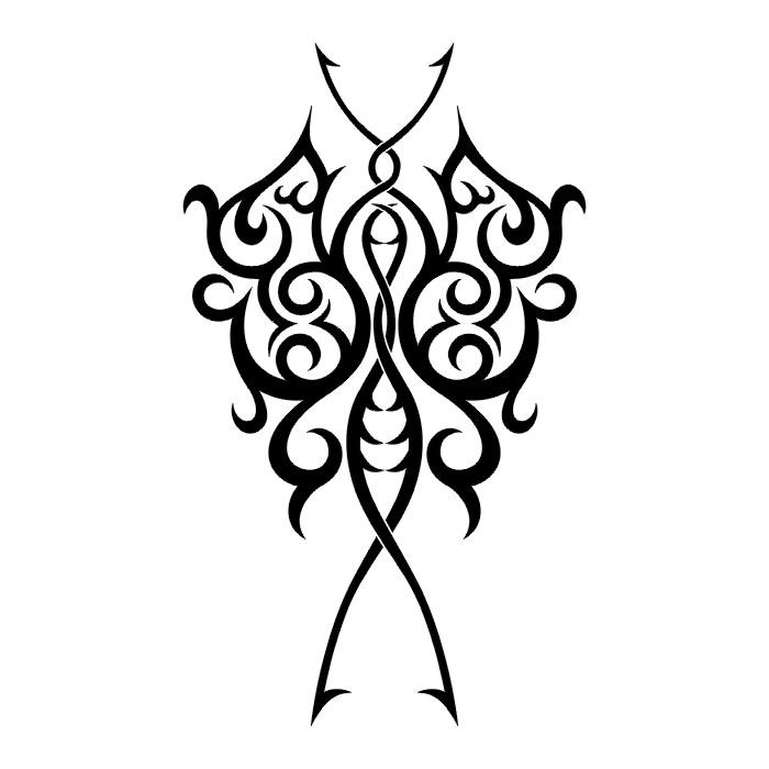 Эскиз татуировки бабочки (61)