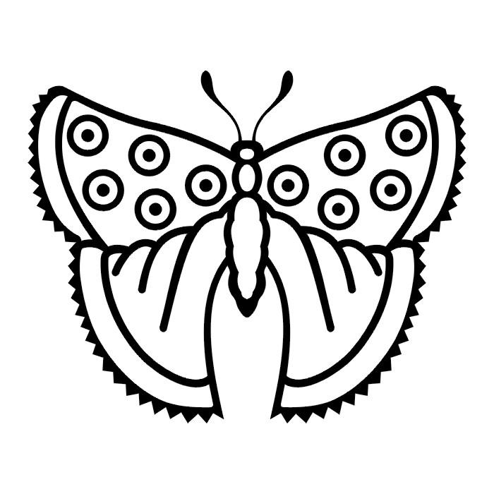 Эскиз татуировки бабочки (67)
