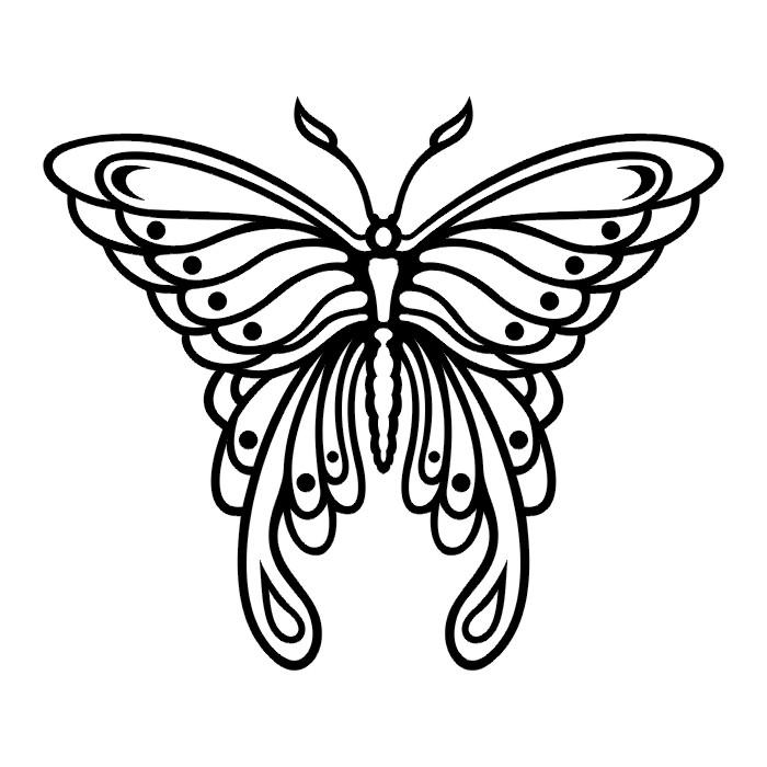 Эскиз татуировки бабочки (68)