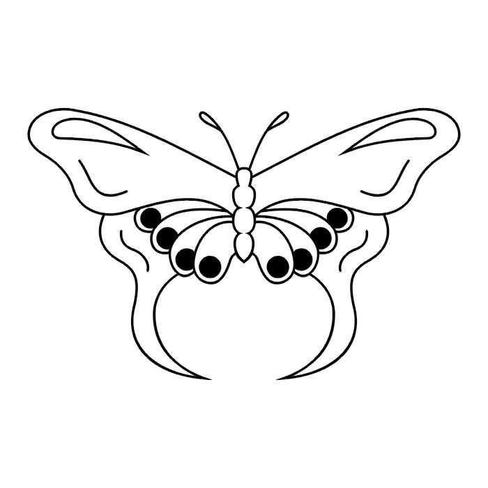 Эскиз татуировки бабочки (69)