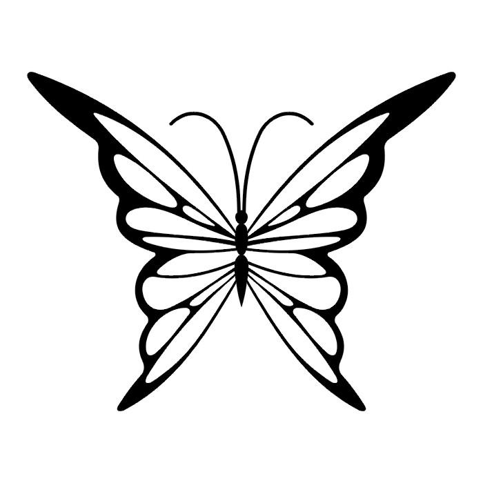 Эскиз татуировки бабочки (70)
