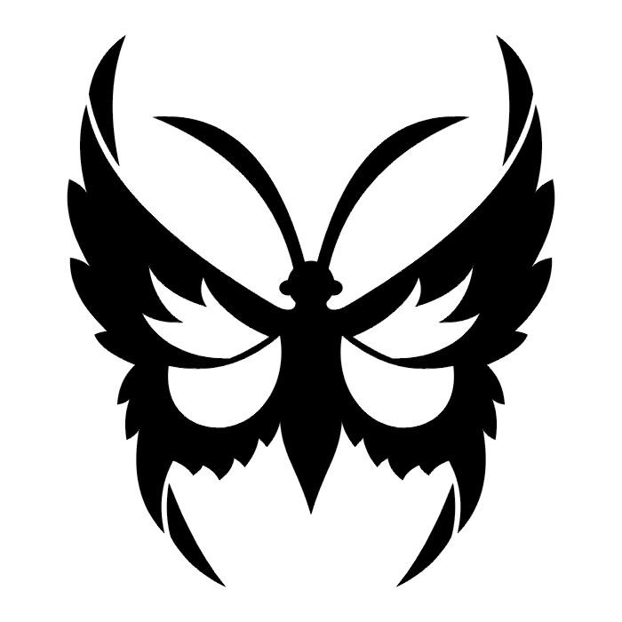 Эскиз татуировки бабочки (73)
