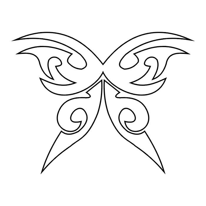 Эскиз татуировки бабочки (78)