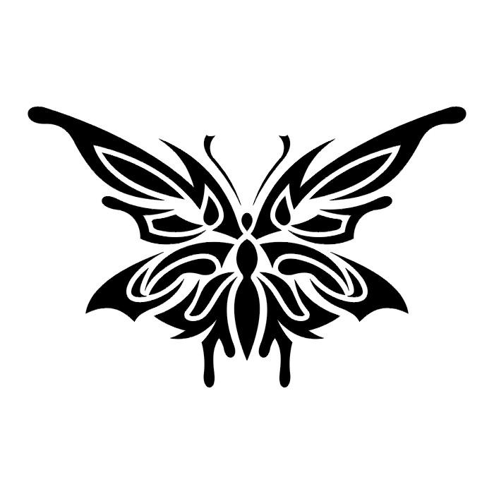 Эскиз татуировки бабочки (84)
