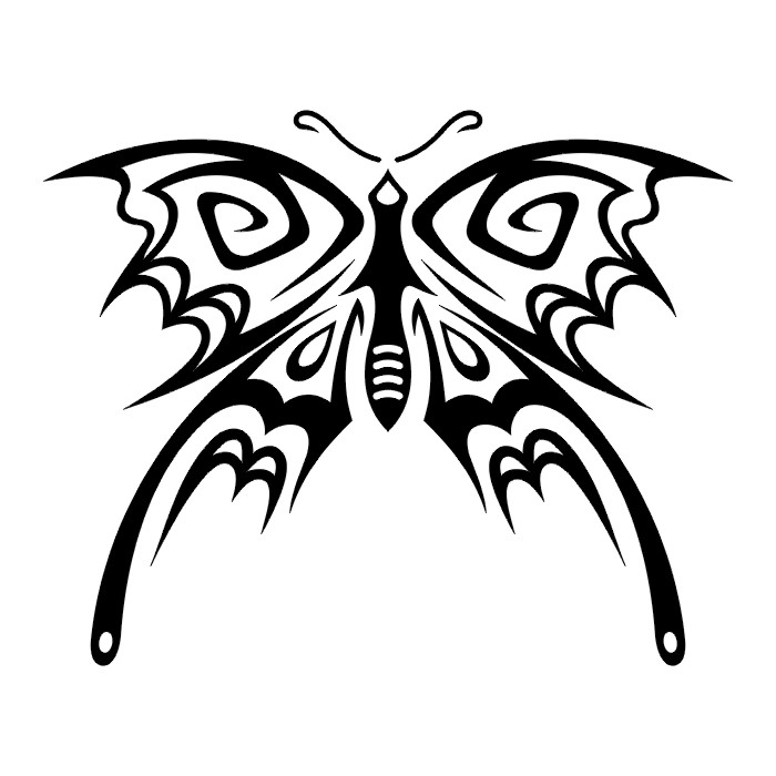 Эскиз татуировки бабочки (85)