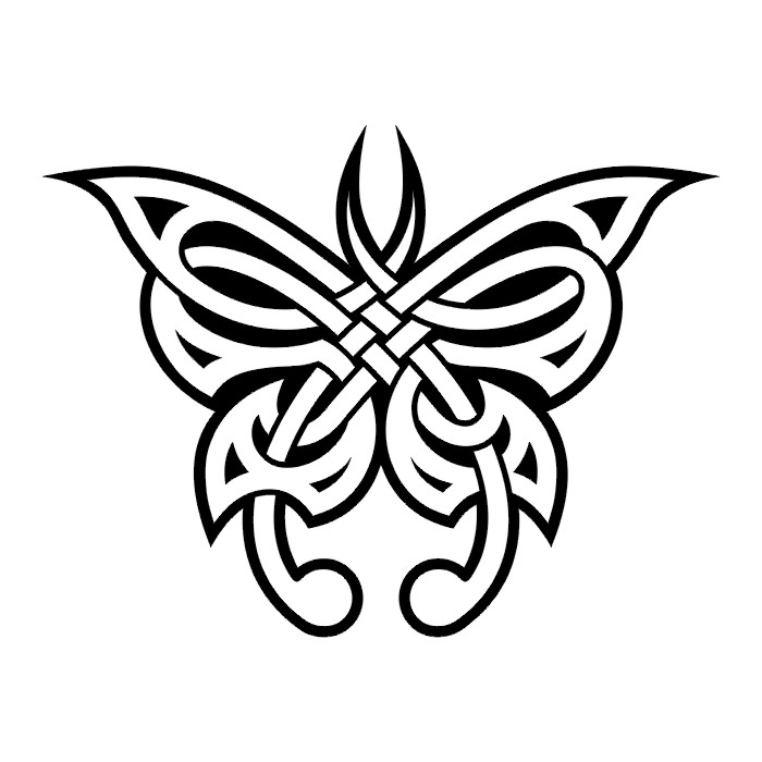 Эскиз татуировки бабочки (86)