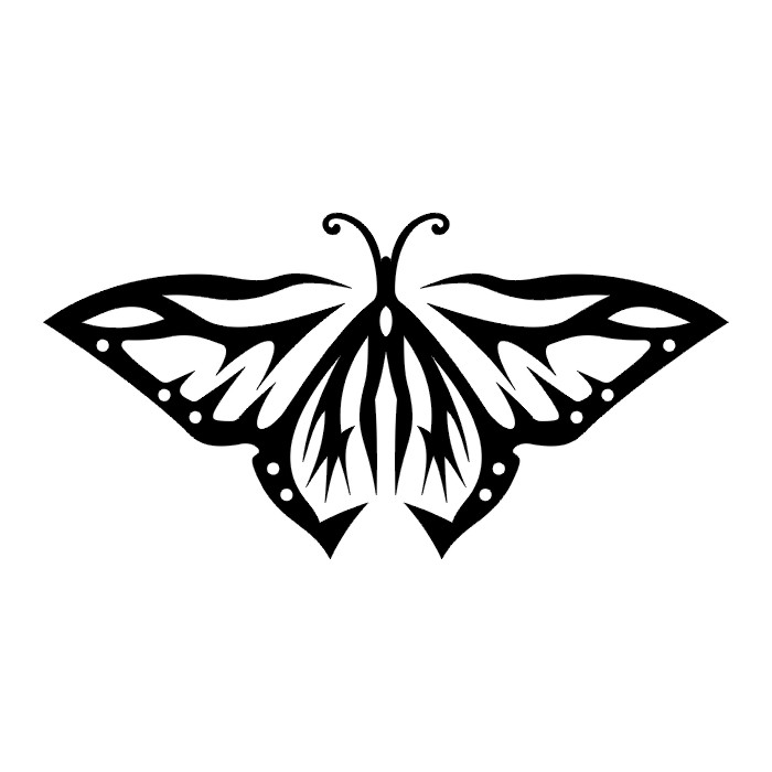 Эскиз татуировки бабочки (91)