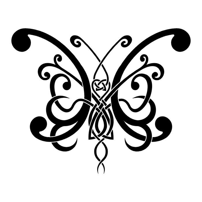 Эскиз татуировки бабочки (95)