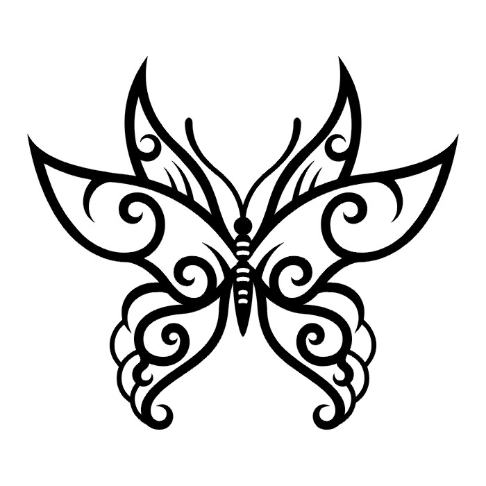 Эскиз татуировки бабочки (99)