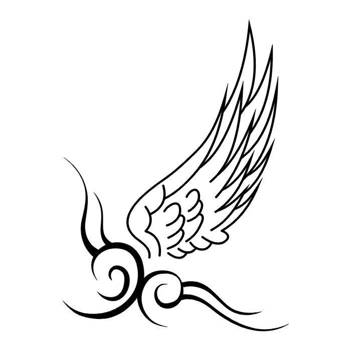 Эскиз татуировки крыльев