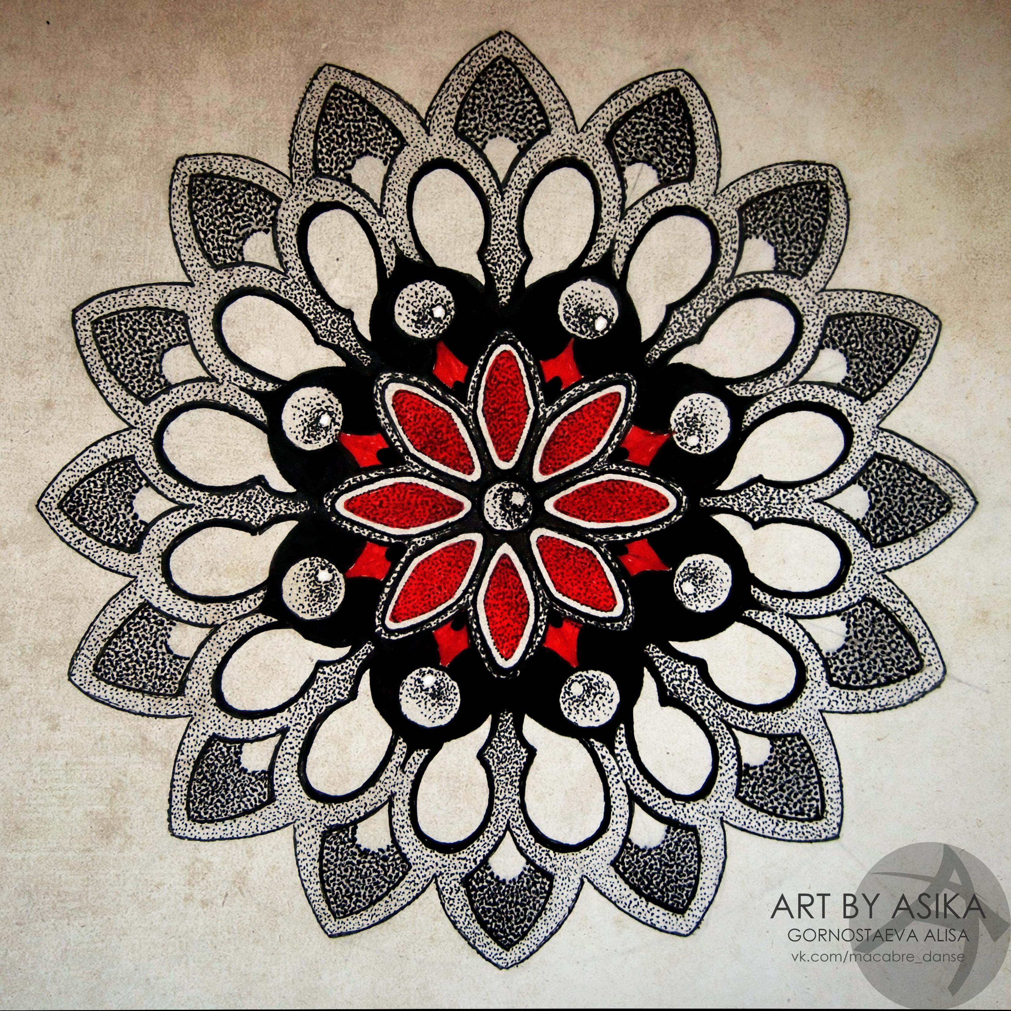 Эскиз татуировки мандалы