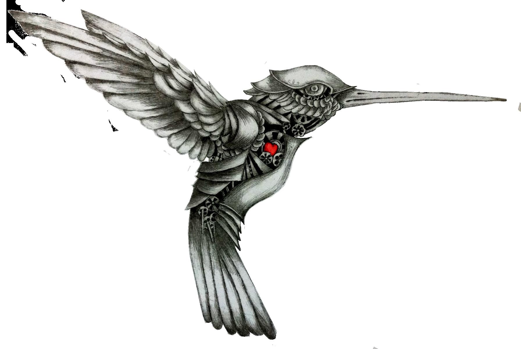 Колибри в стиле стимпанк