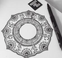 Эскиз татуировки Мандала (105)
