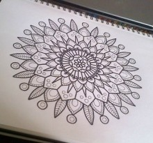 Эскиз татуировки Мандала (110)