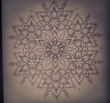 Эскиз татуировки Мандала (115)