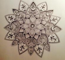 Эскиз татуировки Мандала (117)