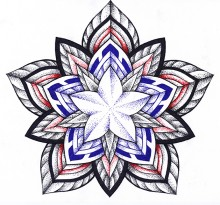 Эскиз татуировки Мандала (120)