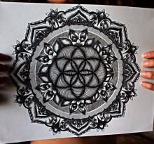 Эскиз татуировки Мандала (122)