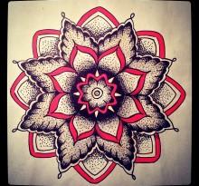 Эскиз татуировки Мандала (123)