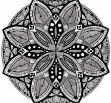 Эскиз татуировки Мандала (124)