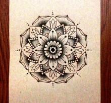 Эскиз татуировки Мандала (125)