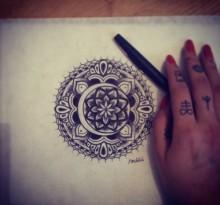Эскиз татуировки Мандала (127)