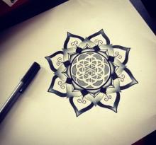 Эскиз татуировки Мандала (129)