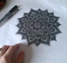 Эскиз татуировки Мандала (130)