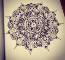 Эскиз татуировки Мандала (131)