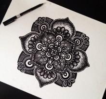 Эскиз татуировки Мандала (140)