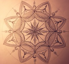 Эскиз татуировки Мандала (148)