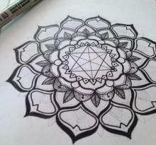 Эскиз татуировки Мандала (17)