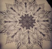 Эскиз татуировки Мандала (19)