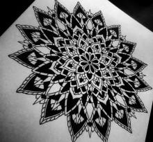 Эскиз татуировки Мандала (23)