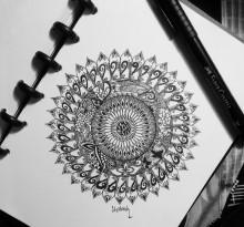 Эскиз татуировки Мандала (31)