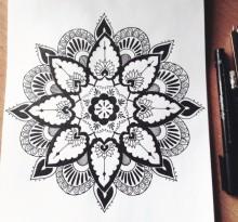 Эскиз татуировки Мандала (37)