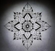 Эскиз татуировки Мандала (38)
