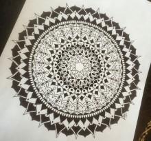 Эскиз татуировки Мандала (42)