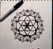 Эскиз татуировки Мандала (46)