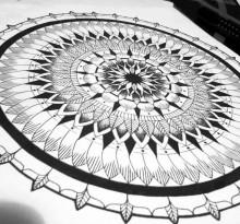 Эскиз татуировки Мандала (47)